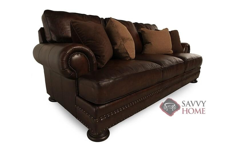Quick Ship Fosterbernhardt Leather Sofa Inbernhardt With Within Foster Leather Sofas (View 12 of 20)