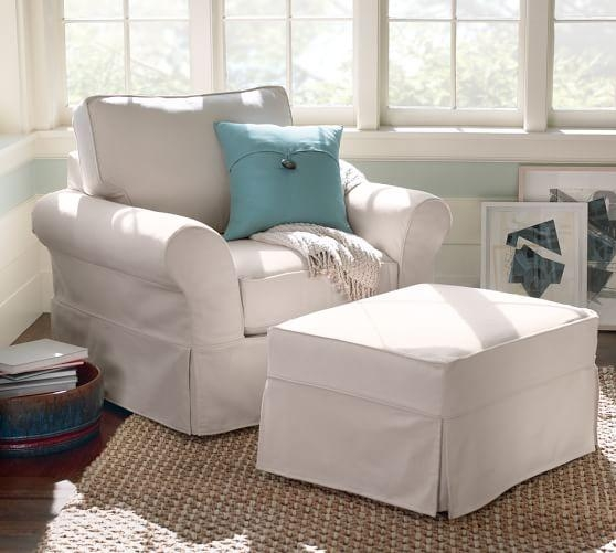 Quick Ship Pb Comfort Roll Arm Slipcovered Armchair | Pottery Barn In Pottery Barn Chair Slipcovers (View 12 of 20)