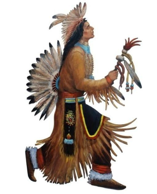 Rain Dancer Native American Hand Painted Wall Art 42Inch Inside Native American Wall Art (Image 19 of 20)