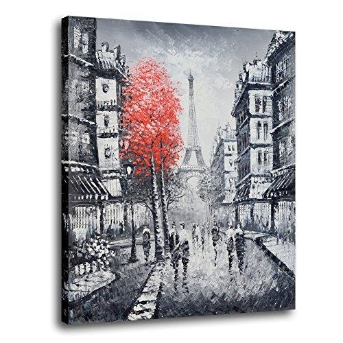 Raybre Art 100% Hand Painted Natural Knives Landscape Painting With Regard To Street Scene Wall Art (View 13 of 20)