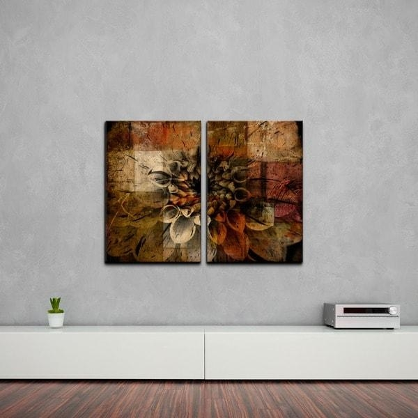 Ready2Hangart 'daisy' Multi Panel Oversized Abstract Canvas Wall For Oversized Abstract Wall Art (Image 15 of 20)