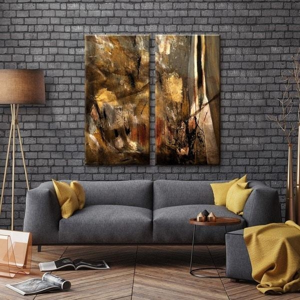 Ready2Hangart 'etabx I' 2 Piece Abstract Oversized Canvas Wall Art With Regard To Oversized Canvas Wall Art (Image 9 of 20)