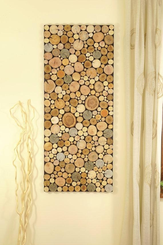 Reclaimed Wood Art Of Tree Rounds Wall Panel Environment Wall Regarding Wood Panel Wall Art (View 3 of 20)