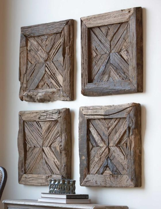 Reclaimed Wood Wall Art Project Awesome Reclaimed Wood Wall Decor Regarding Wood Panel Wall Art (Image 11 of 20)