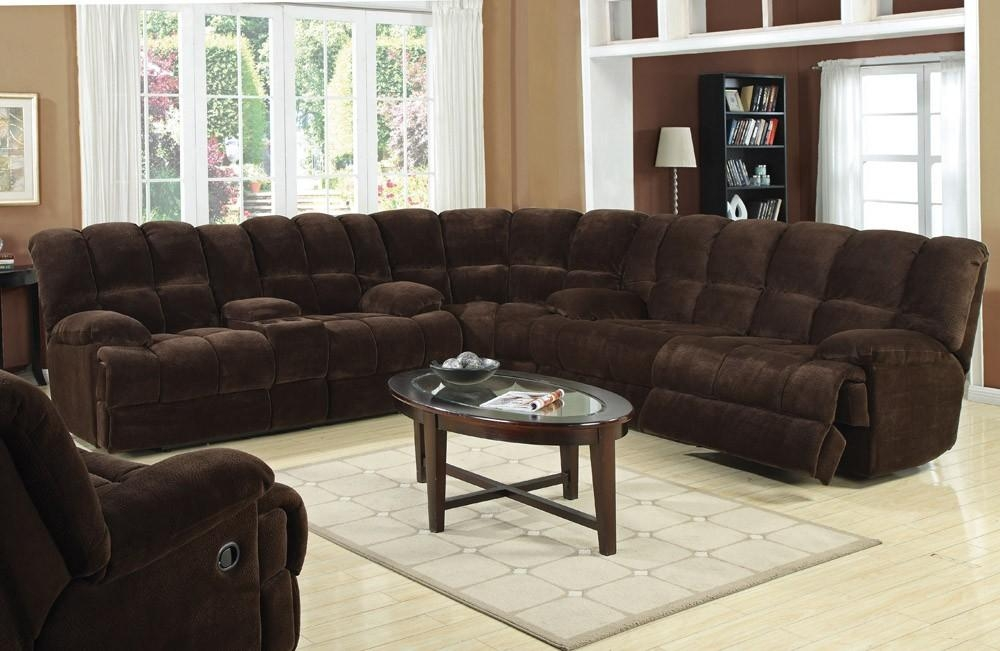 Recliner Sectional Sofa Pertaining To Curved Sectional Sofas With Recliner (Image 14 of 20)