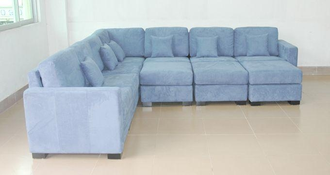 Reclining Blue Sectional Sofas: 14 Inspiring Light Blue Sectional In Blue Microfiber Sofas (Image 19 of 20)