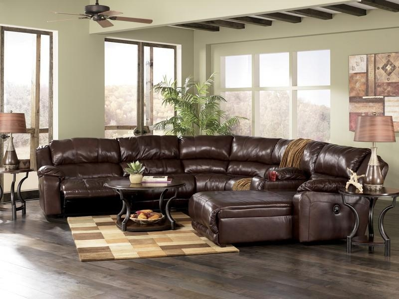 Reclining Sectional, Popular Furniture Direct Buy In Ashley Furniture Leather Sectional Sofas (View 4 of 20)