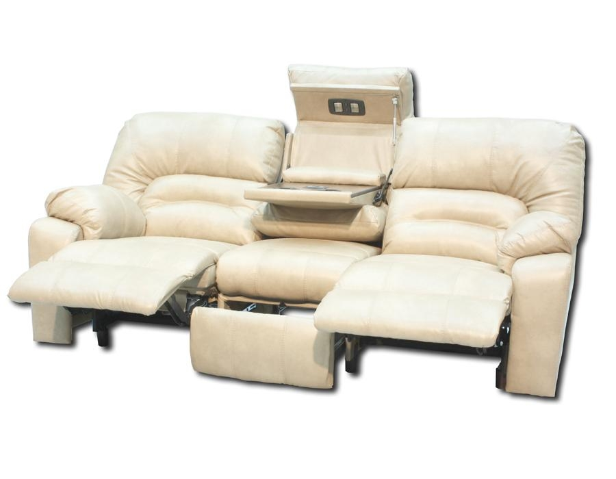 Reclining Sofa With Console | Ira Design Within Sofas With Console (Image 9 of 20)