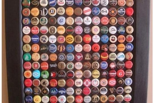 Recycled Bottle Cap Wall Art – Craftsmile Throughout Recycled Wall Art (View 14 of 20)