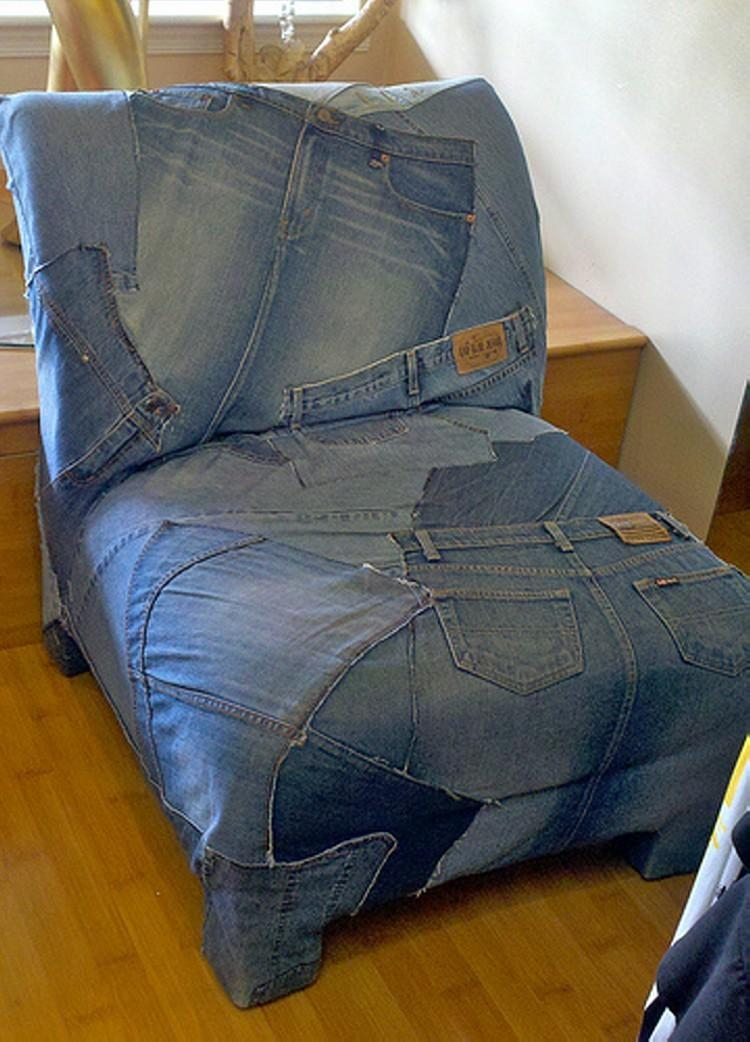 Recycled Denim Jeans Sofa Covers | Recycled Things Inside Denim Sofa Slipcovers (Image 11 of 20)