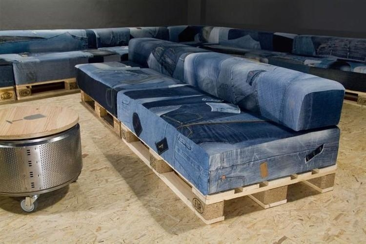 Recycled Denim Jeans Sofa Covers | Recycled Things Intended For Denim Sofa Slipcovers (Image 12 of 20)