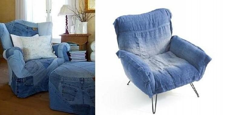 Recycled Denim Jeans Sofa Covers | Recycled Things With Regard To Denim Sofa Slipcovers (Image 14 of 20)