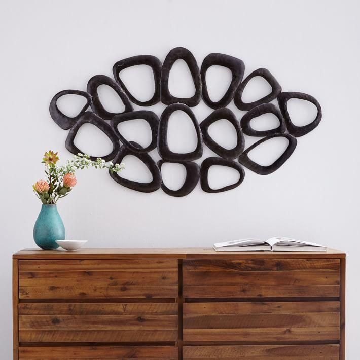 Recycled Metal Wall Art – Loop | West Elm Throughout Oversized Metal Wall Art (View 12 of 20)