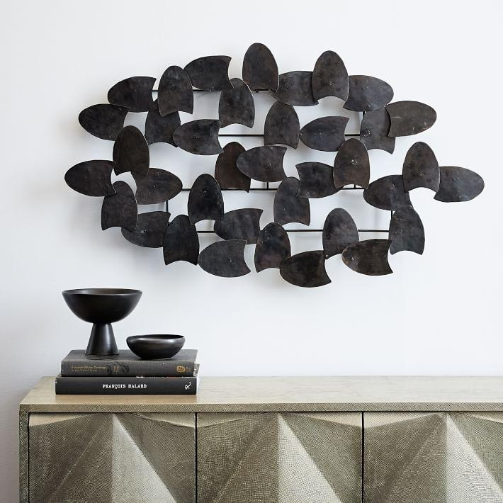 Recycled Metal Wall Art – Overlapping Shapes | West Elm Regarding Recycled Wall Art (View 12 of 20)