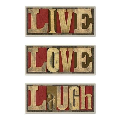 Red Barrel Studio 'live Love Laugh' Inspirational 3 Piece Textual Inside Inspirational Wall Plaques (Image 16 of 20)