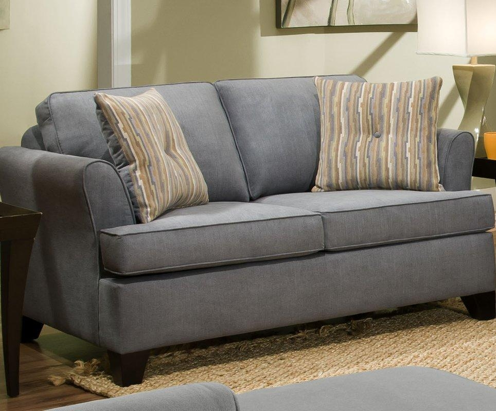 Red Barrel Studio Simmons Upholstery Antin Loveseat Sleeper Sofa Intended For Simmons Sleeper Sofas (Image 11 of 20)