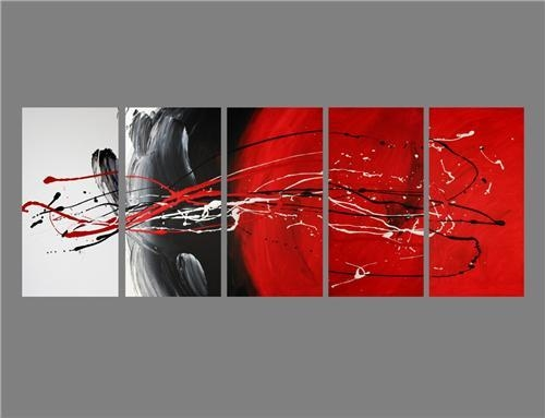 Red Black And White Wall Art 2017 – Grasscloth Wallpaper With Regard To Black And White Wall Art With Red (Image 18 of 20)