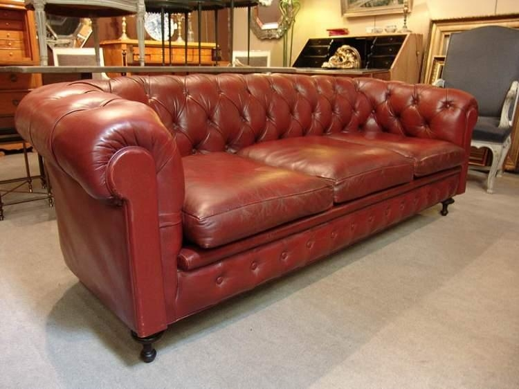 Red Chesterfield Sofa Red Leather Chesterfield Sofa At 1Stdibs Within Red Chesterfield Chairs (Image 18 of 20)