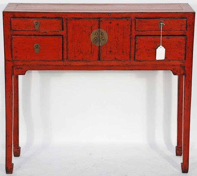Red Console Table Hakkında Pinterest'teki En Iyi 20+ Fikir | Miss Throughout Red Sofa Tables (Image 11 of 20)