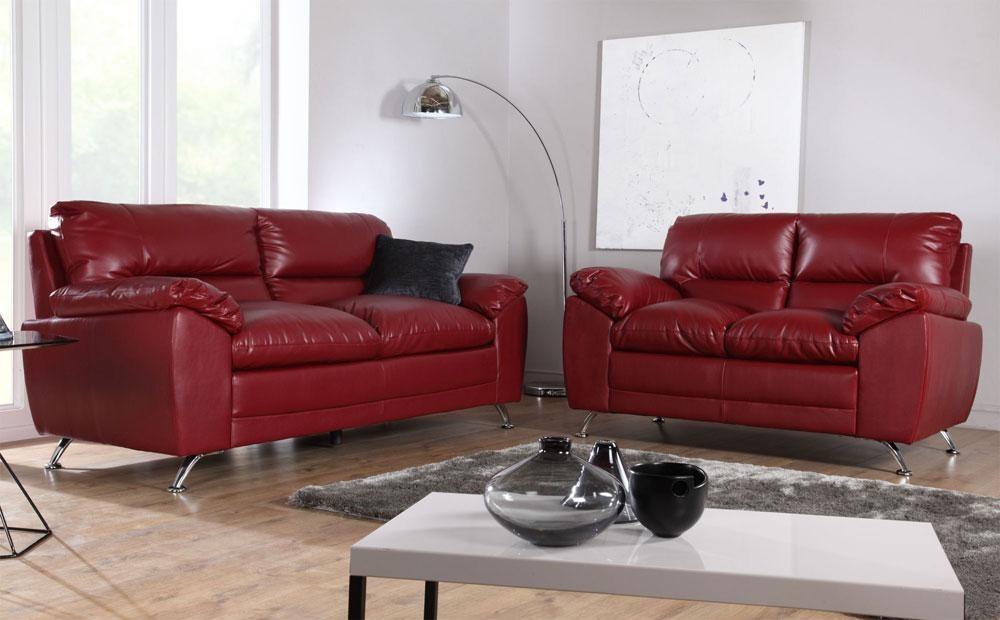 Red Leather Sofas – Red Leather Sofa With Chrome Legs, Red Leather Regarding Sofas With Chrome Legs (Image 13 of 20)