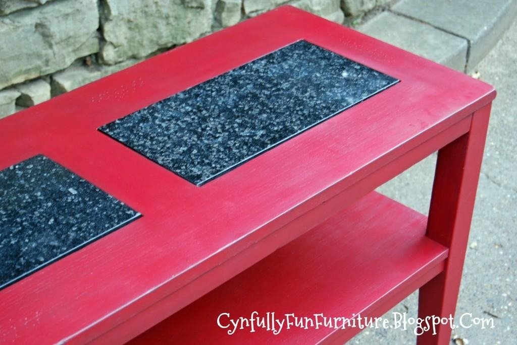 Red Sofa Table – Home Design Ideas And Pictures Throughout Red Sofa Tables (Image 12 of 20)