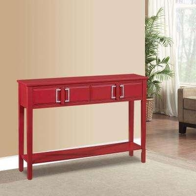 Red – Sofa Tables – Accent Tables – The Home Depot Pertaining To Red Sofa Tables (Image 9 of 20)
