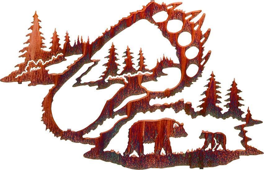 Reflections Of The Wilderness – Bear Trackslazart – Sanger Inside Lazart Metal Art (View 13 of 20)