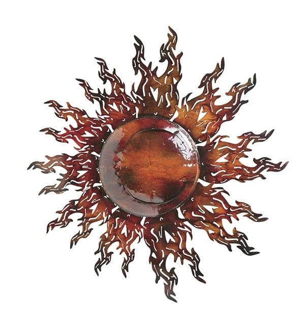 Reflective Metal Sun Wall Art | Wind & Weather Throughout Copper Outdoor Wall Art (Image 16 of 20)