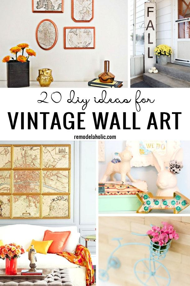Remodelaholic | 20 Diy Ideas For Vintage Wall Art In Vintage Style Wall Art (View 2 of 20)