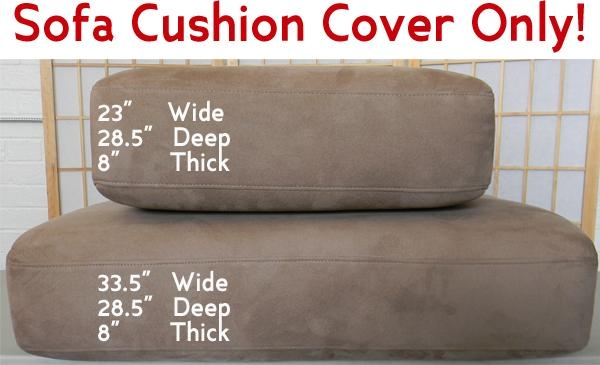 Replacement Sofa Cushions With Regard To Individual Couch Seat Cushion Covers (Image 9 of 20)