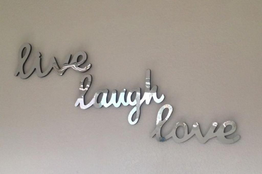 Reserved For Sabrina Cammarano Wall Decor Word Swede13Cottage Live With Regard To Live Love Laugh Metal Wall Decor (Image 20 of 20)