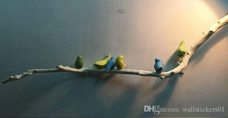 Resin Ceramic Branch+Birds Wall Sculpture Wall Art Decals Handmade Intended For Ceramic Bird Wall Art (Image 18 of 20)
