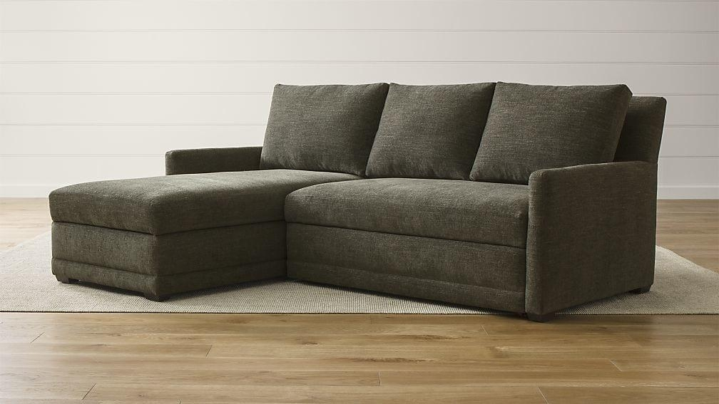 Reston 2 Piece Sleeper Sofa | Crate And Barrel In Crate And Barrel Sleeper Sofas (Image 11 of 20)