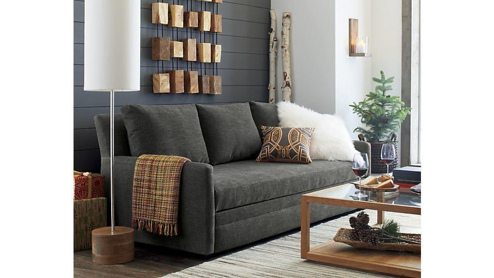 Reston Queen Trundle Sofa | Crate And Barrel Regarding Crate And Barrel Sleeper Sofas (Image 14 of 20)