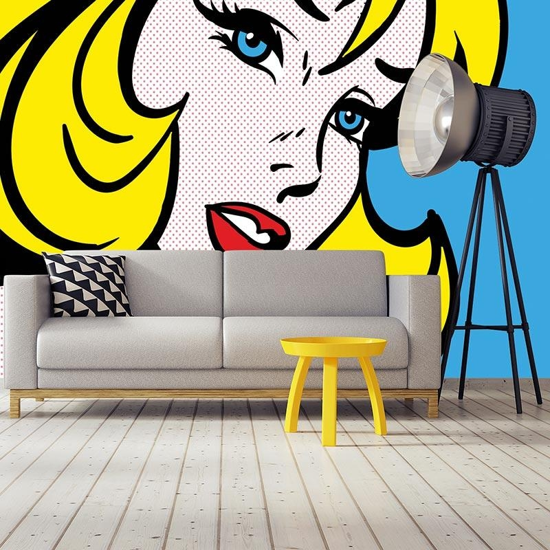 Retro Wallpapers & Pop Art Splashbacks! | For The Floor & More Inside Pop Art Wallpaper For Walls (View 2 of 20)