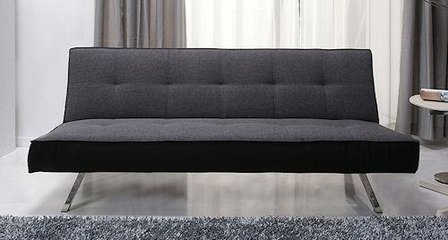 Rialto Pebble Grey Fabric Clic Clac Sofa Bed – Buy Online Pertaining To Clic Clac Sofa Beds (View 7 of 20)