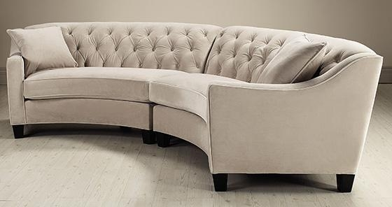 Riemann Curved Tufted Sectional – Sofas And Loveseats – Living Regarding Semi Circular Sectional Sofas (View 8 of 20)