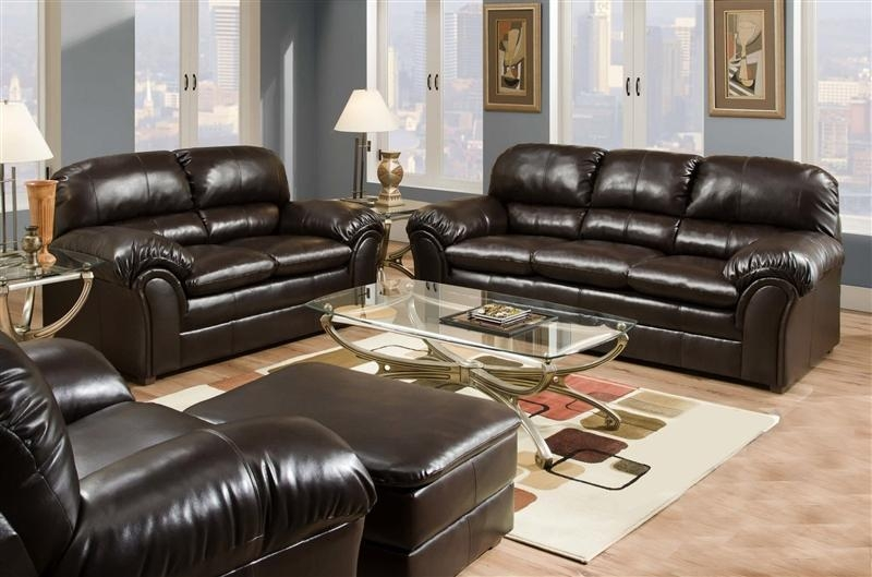 Riverside Vintage 2 Piece Leather Sofa Setsimmons – 50420 S Within Simmons Leather Sofas (Image 10 of 20)