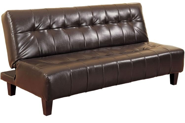 Rockaway Modern Convertible Futon Couch Sleeper Java | The Futon Shop With Convertible Futon Sofa Beds (Image 18 of 20)