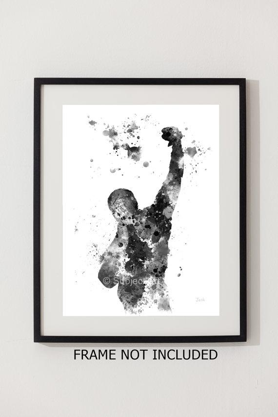 Rocky Balboa Art Print Illustration Wall Art Home Decor Within Rocky Balboa Wall Art (Image 16 of 20)