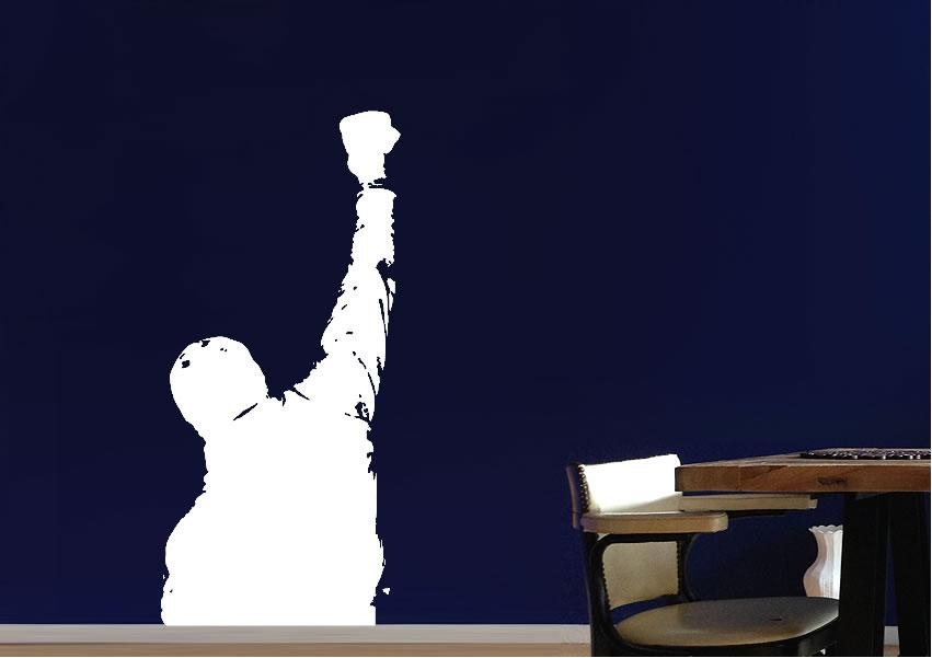 Rocky Balboa On The Steps People Wall Stickers Adhesive Wall Sticker Inside Rocky Balboa Wall Art (View 5 of 20)