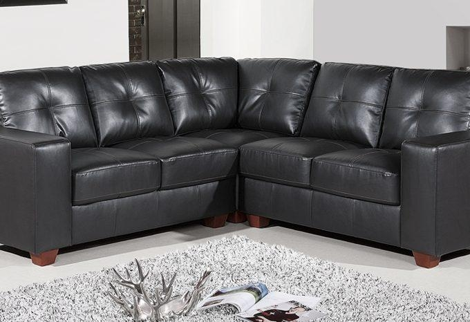 Roma Corner Midnight Black Hb233 – Sofashop Within Black Corner Sofas (View 17 of 20)