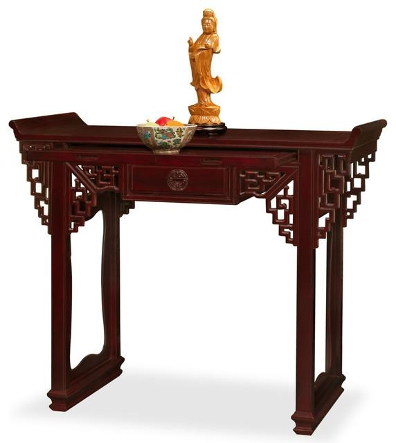 Rosewood Altar Style Console Table – Asian – Console Tables – Regarding Asian Sofa Tables (Image 20 of 20)