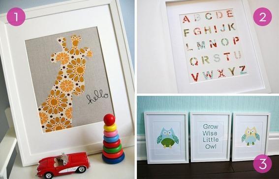 Roundup: 10 Easy Diy Nursery Wall Art Ideas | Curbly Pertaining To Nursery Wall Art (View 9 of 20)