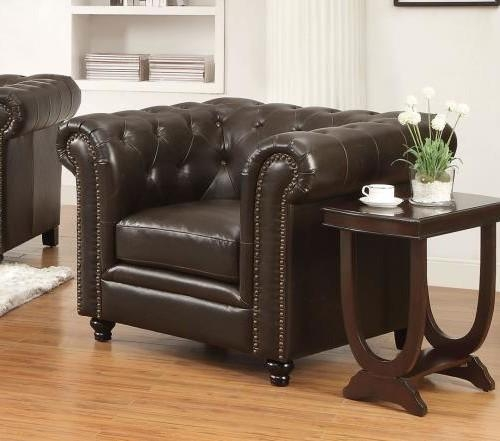 Roy Tufted Brown Leather Sofa Collection | Furniture And Interior Throughout Brown Leather Tufted Sofas (Image 16 of 20)