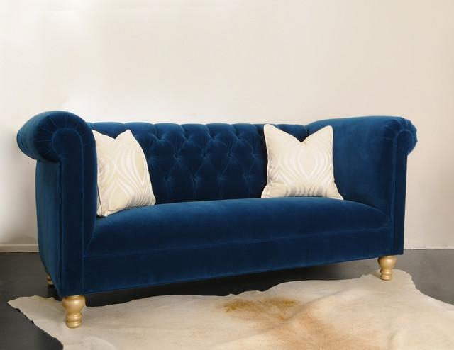 Royal Blue Sofa.  (Image 18 of 20)