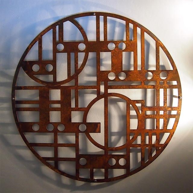 Rusted Steel Wall Art – Modern – Toronto  Moda Industria In Art Deco Metal Wall Art (Image 12 of 20)