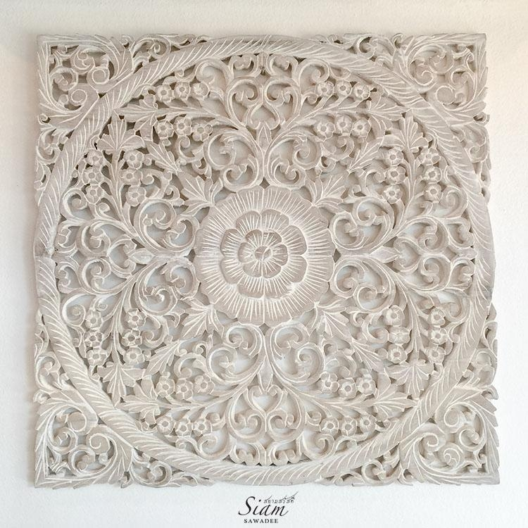Rustic Antique Wood Carving Wall Art Hanging – Siam Sawadee With Regard To Wood Carved Wall Art Panels (View 14 of 20)
