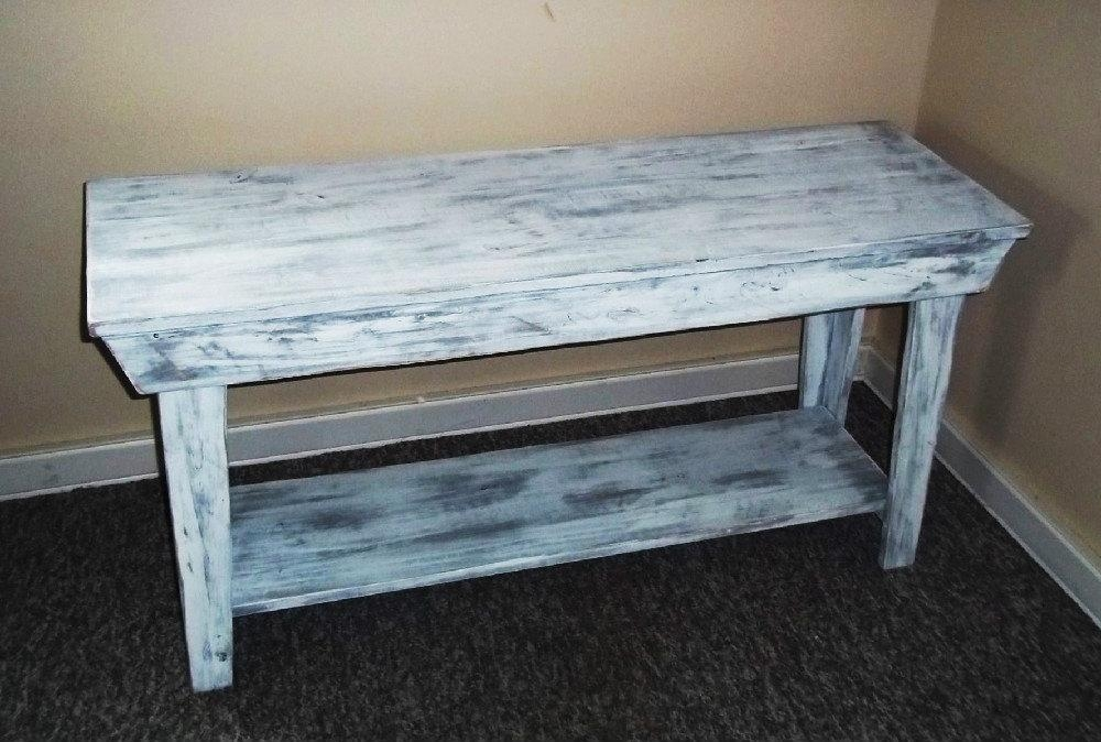 Rustic Console Table Console Table Shabby Rustic Chic Regarding Shabby Chic Sofa Tables (Image 11 of 20)