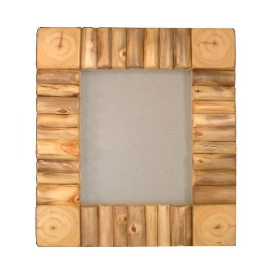 "Rustic Log Framed Mirror – Frame Approx 13 5/8"" X 15 5/8"" – Log For Mirrored Frame Wall Art (Image 15 of 20)"